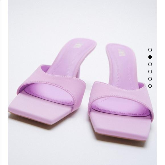 Zara square toe heeled sandals bloggers fav